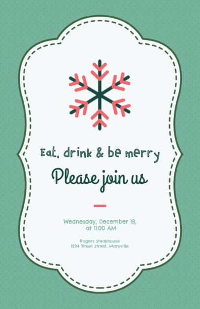 Flyer Design Template for a Christmas Event 847g-222-el