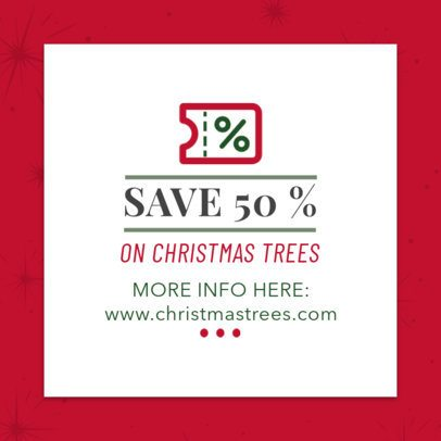 Coupon Design Template for a Christmas Tree Sale 1020g-246-el
