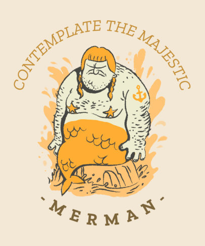 T-Shirt Design Generator with a Hilarious Mermaid Man Graphic 2017e