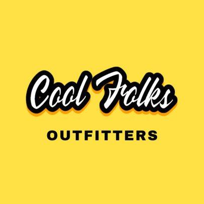 Cool Apparel Brand Logo Generator 2750e