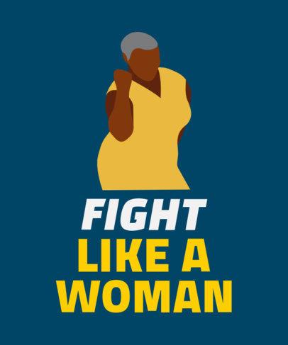 Feminist T-Shirt Design Maker with a Woman Illustration 2022e