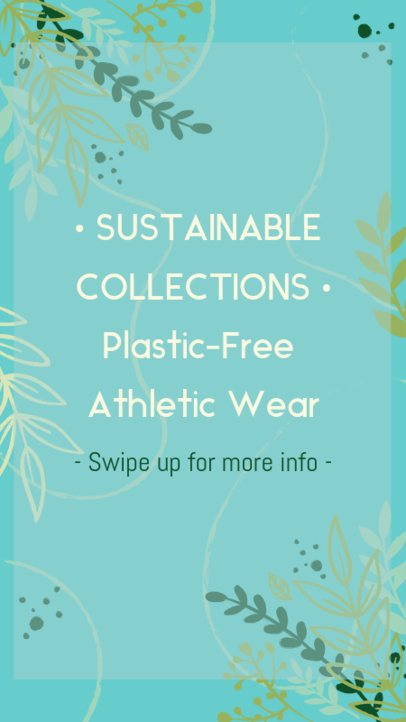 Eco-Friendly Instagram Story Template for a Clothing Brand 2027a