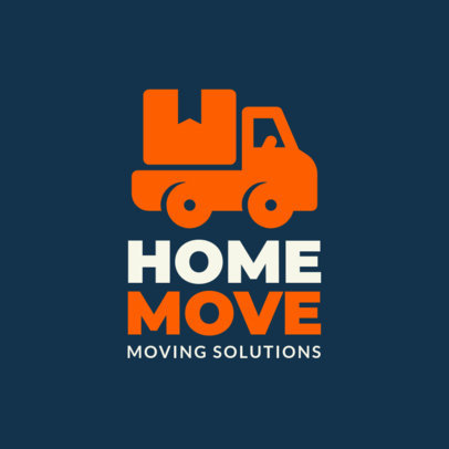 Logo Maker for a Moving Solutions Company with a Truck Icon 1197i-290-el