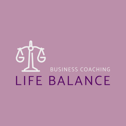 Business Coaching Logo Generator with a Simple Design 2552h 266-el