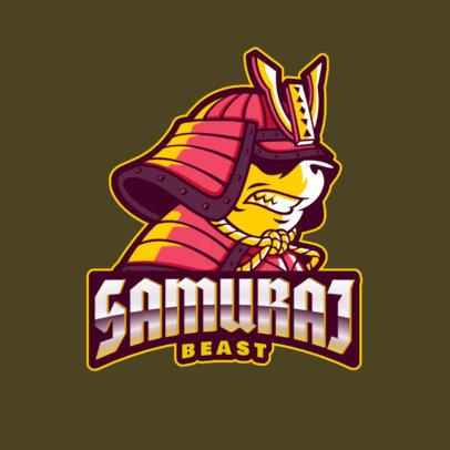 Online Logo Creator for Gaming Featuring a Samurai Panda 2755r