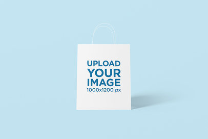 Gift Bag Mockup with a Customizable Background 1473-el