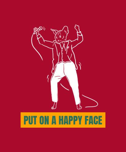 T-Shirt Design Maker Featuring a Cat Dancing Like The Joker 2019b