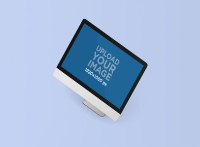 Minimal Render Mockup of an iMac Standing on a Plain Color Surface 1286-el