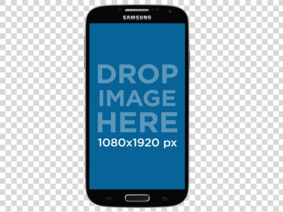 Samsung Galaxy S4 Mockup in Portrait Position Over a PNG Background a11474