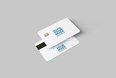 Both Sides Mockup of a Credit Card 1646-el