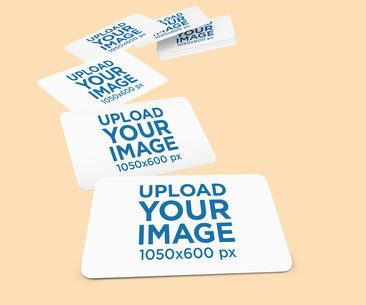Mockup of Numerous Business Cards 1556-el