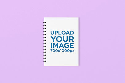 Spiral Notebook Mockup Featuring a Plain Background 1580-el
