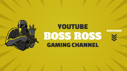 YouTube Banner Generator Featuring a PUBG-Inspired Cholo Character 2064b