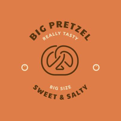 Online Logo Maker for a Pretzel Bakery 220c-el