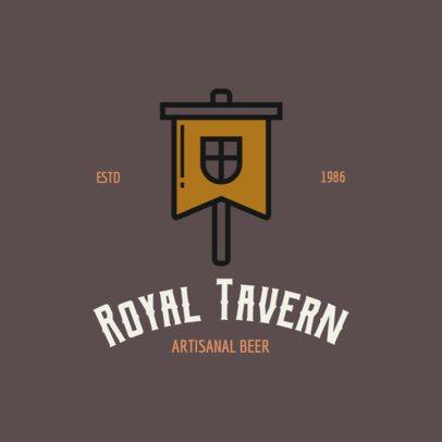 Beer Brand Logo Maker with Medieval Icons 237-el