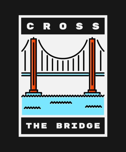 T-Shirt Design Creator with an Illustration of the Golden Gate Bridge 362d-el
