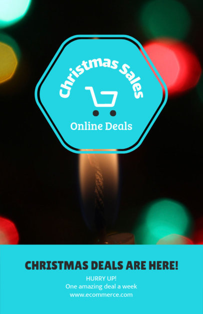 Cool Online Flyer Generator for Christmas Deals 252-el
