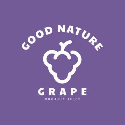 Logo Generator a Juice Place Featuring Fruit Silhouettes 253-el
