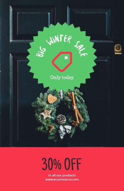 Christmas Flyer Maker for a Big Winter Sale 252a-el