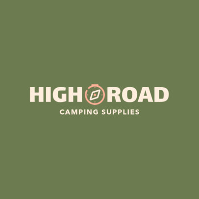 Logo Maker for a Camping Supplies Store