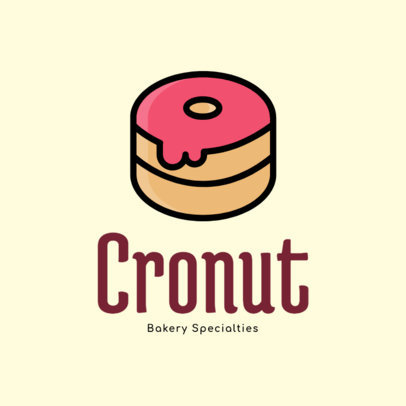 Bakery Logo Maker with a Sweet Donut Icon