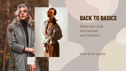 YouTube Banner Template with Clothing Tips 2054a