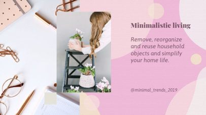 YouTube Banner Template with Minimalist Living Ideas 2054d