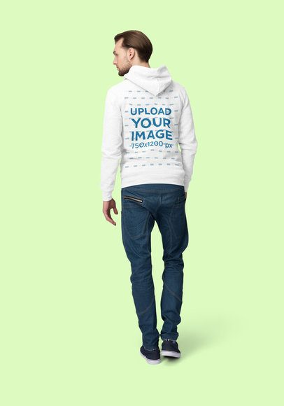 Back View Hoodie Mockup of a Man Posing at a Studio 1794-el1