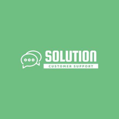 Logo Design Template for a Customer Support Company 292b-el