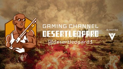 YouTube Banner Maker with a Shotgun-Holding PUBG-Inspired Character 2067d