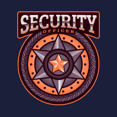 Gaming Logo Template Featuring a Law Enforcement Badge Graphic 2770c