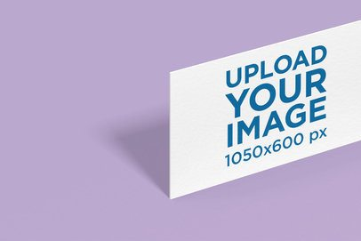 Mockup of a Business Card Standing on a Customizable Surface 1687-el