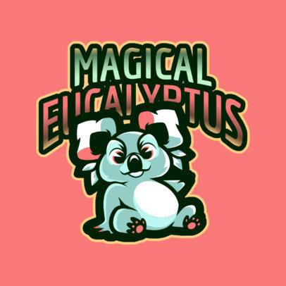 Fantasy Gaming Logo Maker with a Cute Koala Bear Icon 2766a