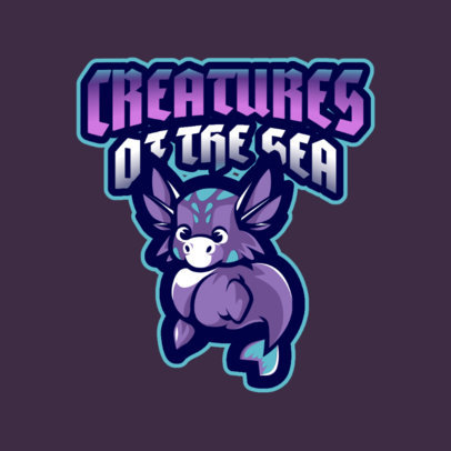 Gaming Logo Maker Featuring a Baby Hippocampus 2766b