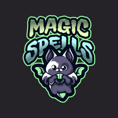 Gaming Logo Maker with a Bewitching Kitten Illustration 2766d