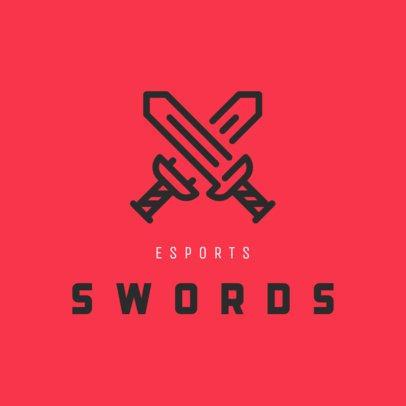 Gaming Logo Creator Featuring Two Clashing Swords 242b-el