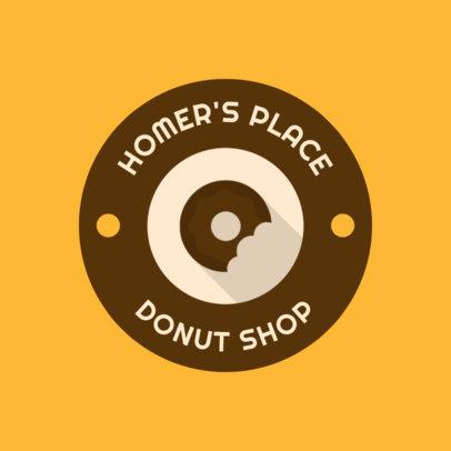Bakery Logo Maker with a Circular Badge and Minimalistic Icons 280-el