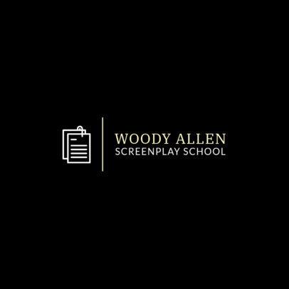 School Logo Maker for Scriptwriters 275c-el