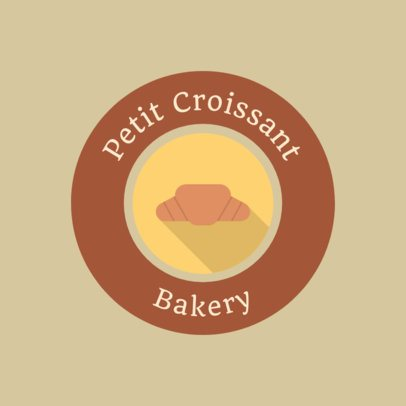 Bakery Logo Creator with a Simple Croissant Icon 280a-el