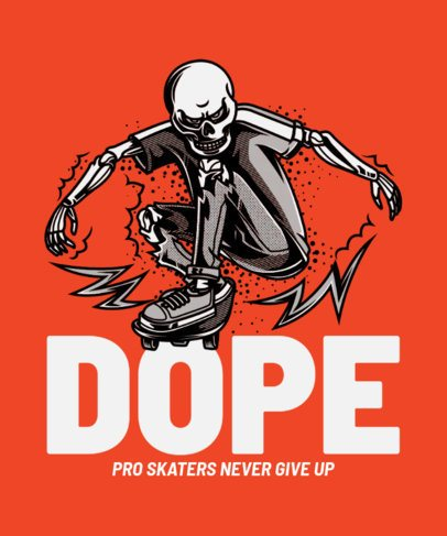 T-Shirt Design Creator Featuring a Skater Skeleton 21a-el