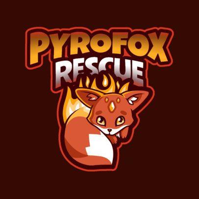 Logo Maker with a Flaming Fox for a Fantasy Game 2766v