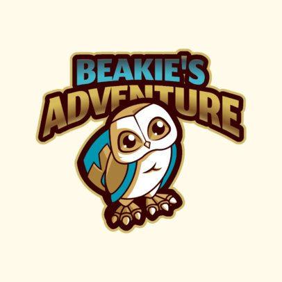 Gaming Logo Template Featuring Fantasy Owl Cartoon 2766w