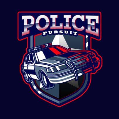 Action Gaming Logo Maker with a Police Car Illustration 2770j