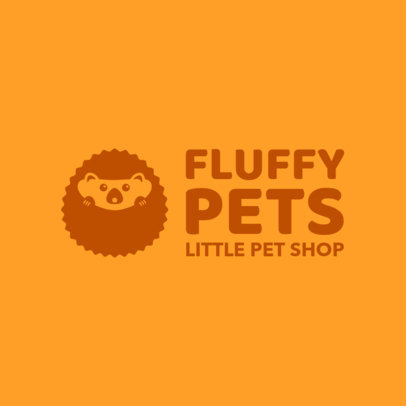 Pet Shop Logo Maker Featuring a Cute Hedgehog 1191i-2760