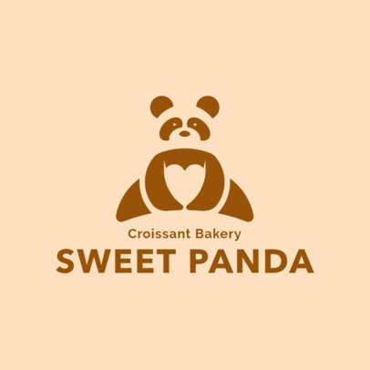 Bakery Logo Maker with an Abstract Panda Icon 1113j-2760