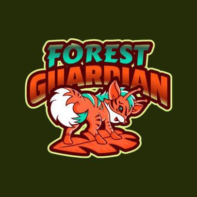Logo Generator Featuring a Colorful Fantasy Animal Cartoon 2766y