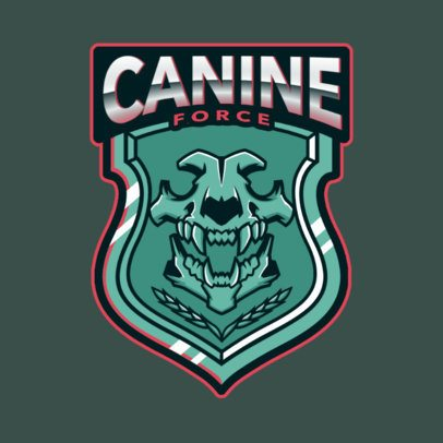 Gaming Logo Maker with a Fierce Canine Police Force Badge 2770n