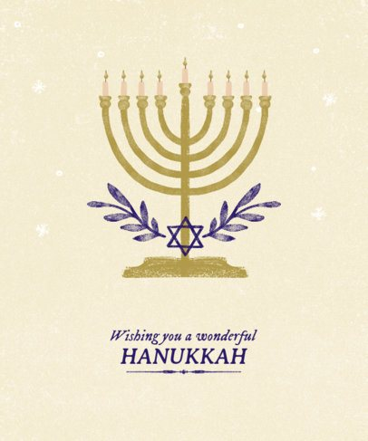 T-Shirt Design Maker of a Hanukkah Celebration with a Menorah Illustration 837g-2055