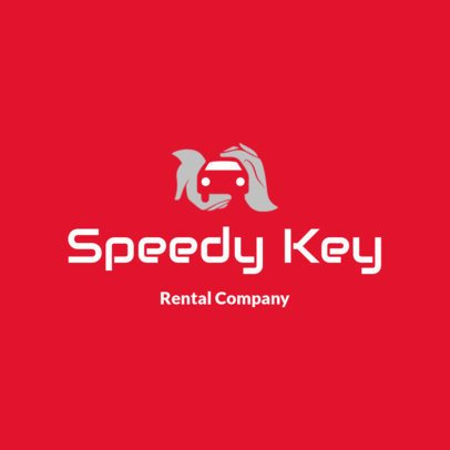 Car Rental Logo Template Featuring an Abstract Icon 2774b