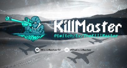 Rainbow Six Siege-Inspired Twitch Banner Maker Featuring an Illustrated Sniper 2080